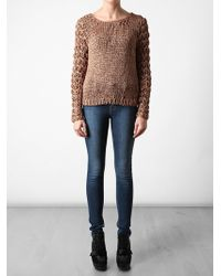 Rag & Bone | Brown Chunky Knitted Sweater | Lyst
