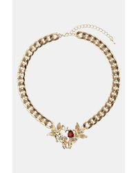 TOPSHOP | Metallic Cherub Charm Necklace | Lyst