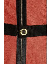 Victoria Beckham | Red Belted Stretch Woolblend Dress | Lyst