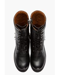 Jeffrey Campbell Tall Black Leather Spiked Reznorspk Boots for men