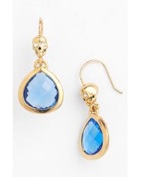 Juicy Couture | Blue Boxed Drop Earrings | Lyst