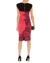 Karen Millen Pink Lace Print Dress