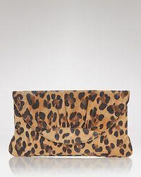 Lauren Merkin Multicolor Suede Leopard Clutch
