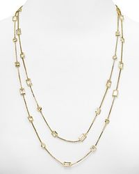 Michael Kors - Metallic Clear Crystal Double Wrap Necklace 50 - Lyst