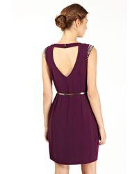 Oasis | Purple Embellished Holly Shift Dress | Lyst