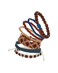 TOPMAN | Blue Multi Pack Skull Bracelet for Men | Lyst