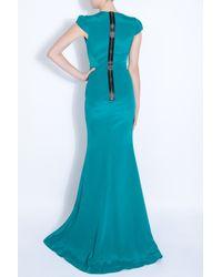 Project D - Blue Mazarine Ss Vnk Maxi Dress - Lyst