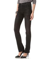 Citizens of Humanity Black Rocket Velveteen High Rise Skinny Jeans