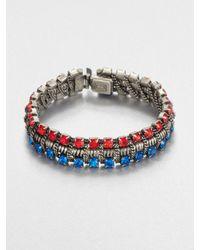 DANNIJO - Blue Swarovski Crystal Tricolor Bracelet - Lyst