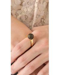 House of Harlow 1960 Metallic Crystal Orb Ring