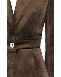 Karen Millen Brown Velvet Military Jacket