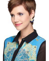ModCloth - Blue Royal Blush Earrings in Sapphire - Lyst
