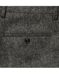 J.Crew - Gray Bowery Straight Leg Wool Tweed Trousers for Men - Lyst
