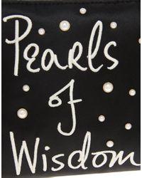 Lulu Guinness - Black Pearls Of Wisdom Clutch - Lyst