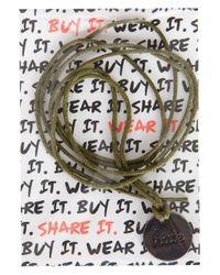 TOPSHOP - Green Shelterbox Charity Bracelet - Lyst