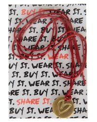 TOPSHOP - Red Shelterbox Charity Bracelet - Lyst