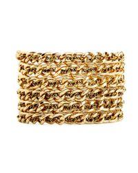BaubleBar | Metallic Gold Chain Cuff | Lyst