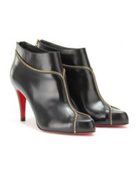 Christian Louboutin | Black Colizip 85 Leather Ankle Boots | Lyst