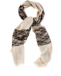 Oasis Black Lace Texture Scarf