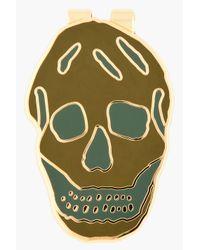 Alexander McQueen | Green Skull Money Clip for Men | Lyst