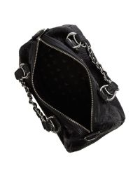 Armani Jeans Black Tumbled Eco Leather Bowling