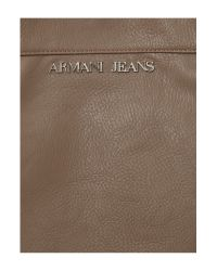 Armani Jeans Brown Eco and Patent Lthr Bow