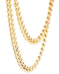 ASOS Metallic Asos Over The Button Tie Chain for men