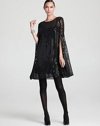 d094bc16 DKNY Sequin Cape Tunic in Metallic - Lyst