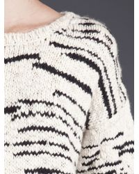 IRO | Beige Cream and Black Merino Knitted Jumper | Lyst