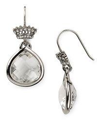 Juicy Couture - White Pretty Little Gems Faceted Teardrop Earrings - Lyst