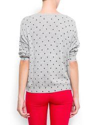 Mango Gray Polkadot Sweater