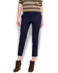 Mango Blue Suit Trousers