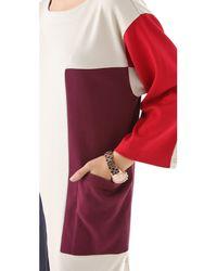 Marc By Marc Jacobs - Multicolor Constructivist Colorblock Cotton Dress - Lyst