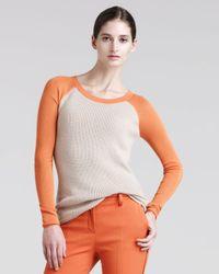 Reed Krakoff - Orange Womens Thermal Baseball Sweater - Lyst