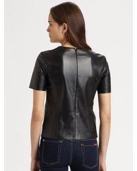 Sachin & Babi | Black Barcelona Leather Top | Lyst