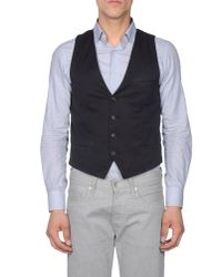Scotch & Soda Blue Waistcoat for men