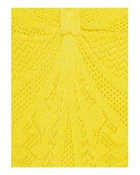Catherine Malandrino Yellow Pointellepatterned Knitted Dress