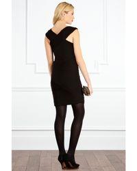 Coast Coast Walker Ruched Dress Black