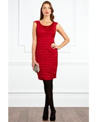 Coast Coast Nikita Ruched Dress Red
