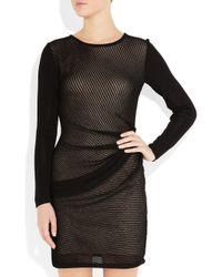 Dagmar Black Diana Draped Openknit Dress