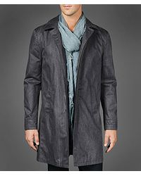 John Varvatos Gray Cotton Three Quarter Length Jacket for men