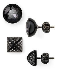 Juicy Couture | Black Glam Rocks Set Of Two Gemstone Stud Earrings | Lyst