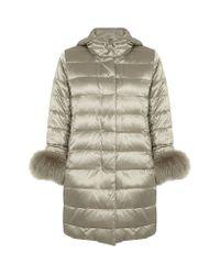 Max Mara Gray Novea Quilted Coat