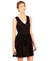Oasis Oasis Lace Sequin Dress Black