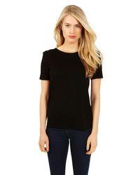 Oasis Oasis Shoulder Pad Tshirt Black