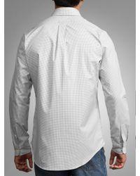 Polo Ralph Lauren Gray Polo Golf By Ralph Lauren Custom Fit Check Shirt Greywhite for men
