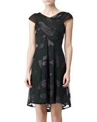 Reiss Reiss Loretta Chiffon Insert Dress Green