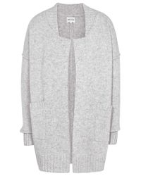 Reiss Gray Zaria Knitted Cardigan