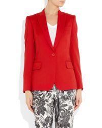 Stella McCartney Red Iris Wooltwill Blazer