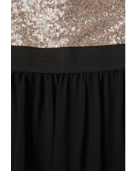 TOPSHOP Black Sequin Bodice Dress By Love